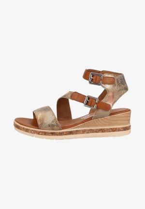 Sandalen met plateauzool - antique/cayenne