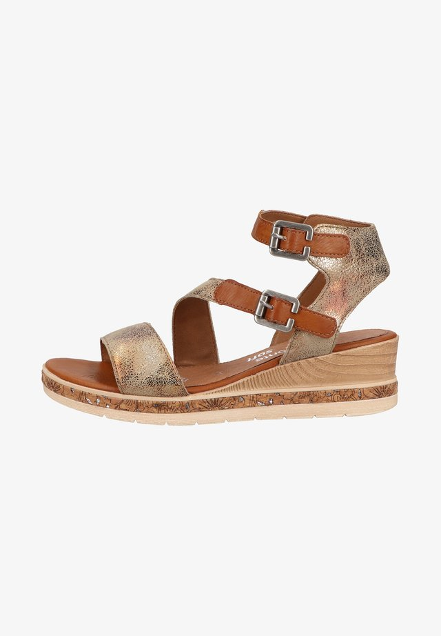 Platform sandals - antique/cayenne