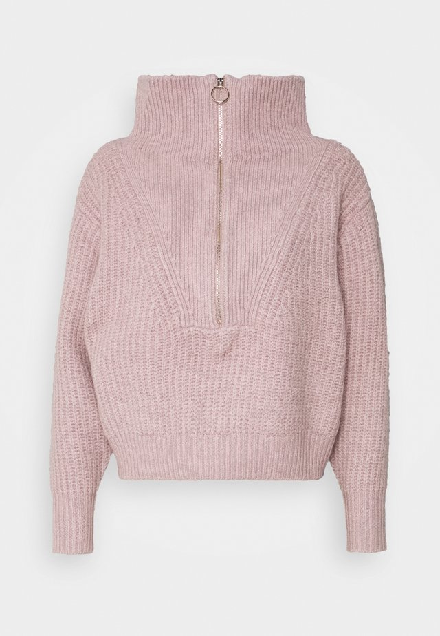 YASMARILYN ZIP - Jumper - woodrose