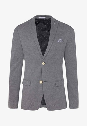 WE FASHION HERREN-SKINNY-FIT-SAKKO MIT MUSTER - Blazer jacket - grey