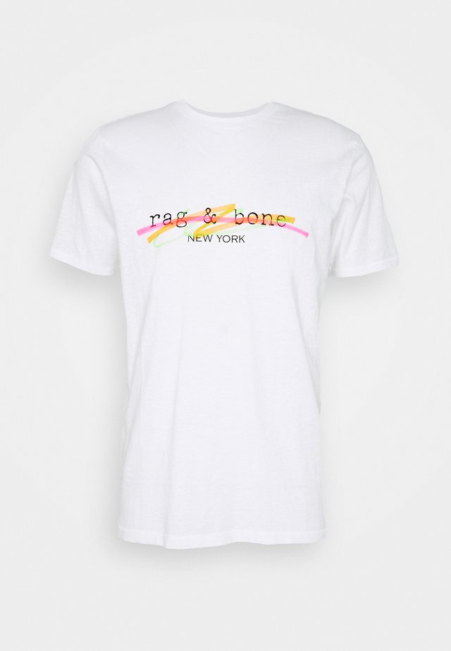 HIGHLIGHTER TEE - Camiseta estampada - white