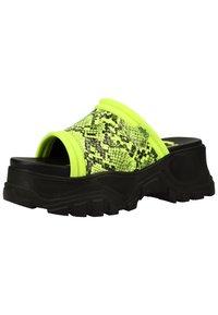Buffalo - PANTOLETTEN - Pantofle - neon green - 2