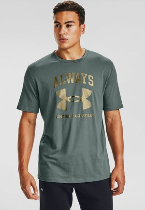 UA ALWAYS  - Print T-shirt - lichen blue