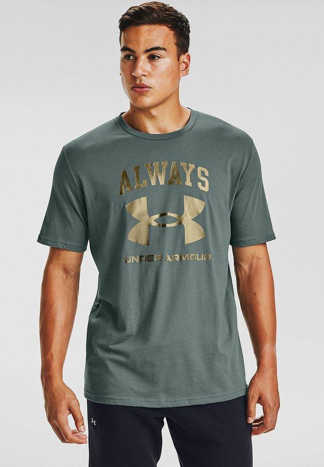 UA ALWAYS  - Print T-shirt - lichen blue