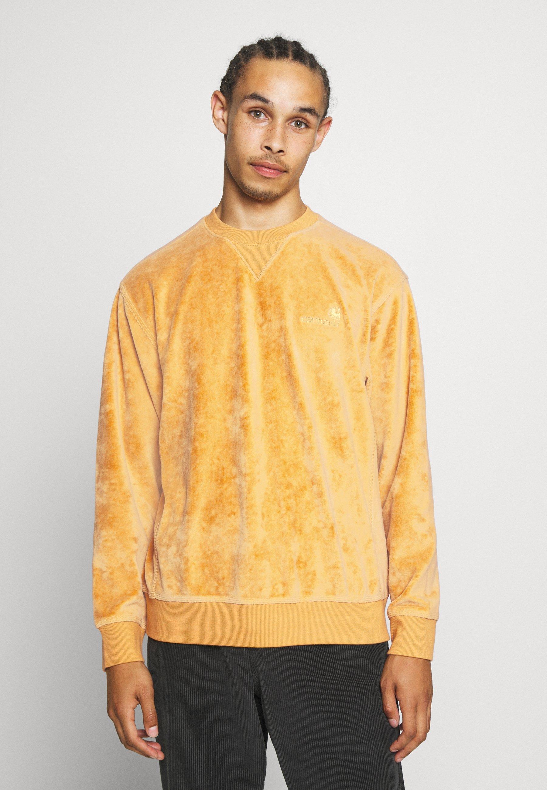 Carhartt Chase Sweatshirt gelb Herren Rundhals Pullover winter sun