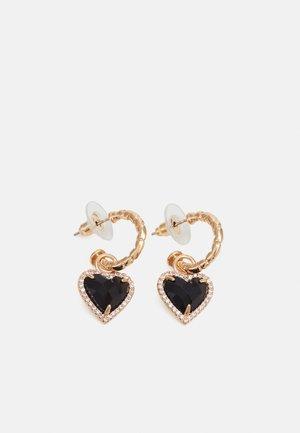 HEART - Oorbellen - gold-coloured/schwarz