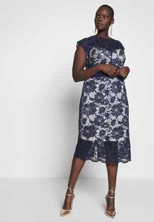 SALKA MIDI DRESS - Cocktailkjoler / festkjoler - navy/nude