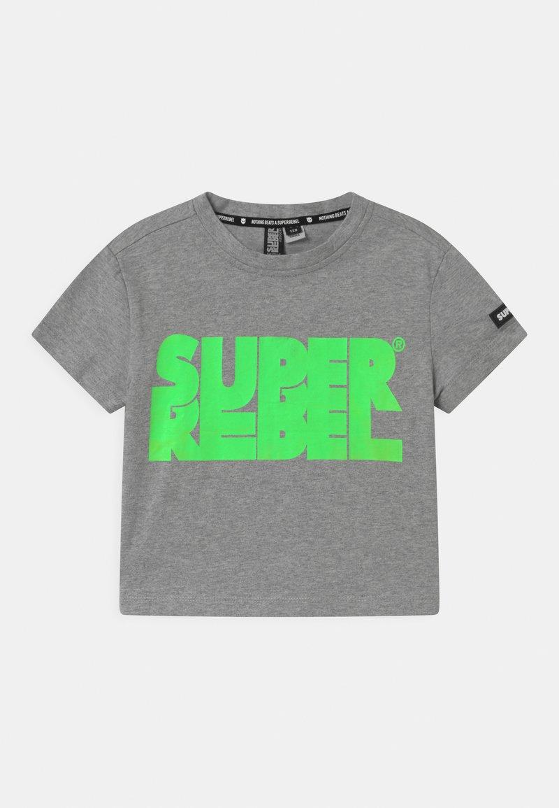 SuperRebel - SHORT - Print T-shirt - grey