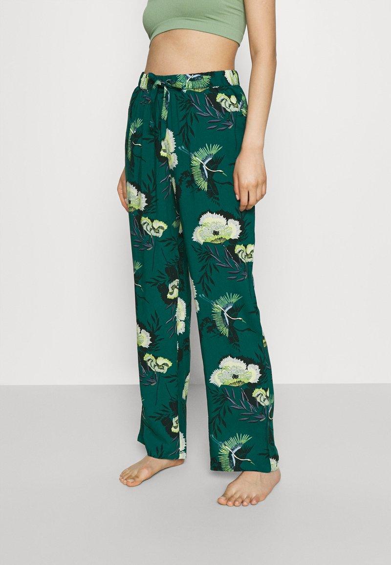 Hunkemöller - PANT LOTUS BIRD - Bas de pyjama - storm
