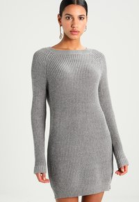 Noisy May - NMSIESTA O-NECK DRESS - Jumper dress - medium grey melange - 0