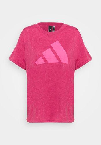 WIN TEE - Print T-shirt - berry