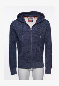 Superdry - CLASSIC  - Zip-up hoodie - atlantic navy birdseye - 0
