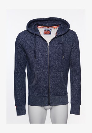 CLASSIC  - Zip-up hoodie - atlantic navy birdseye