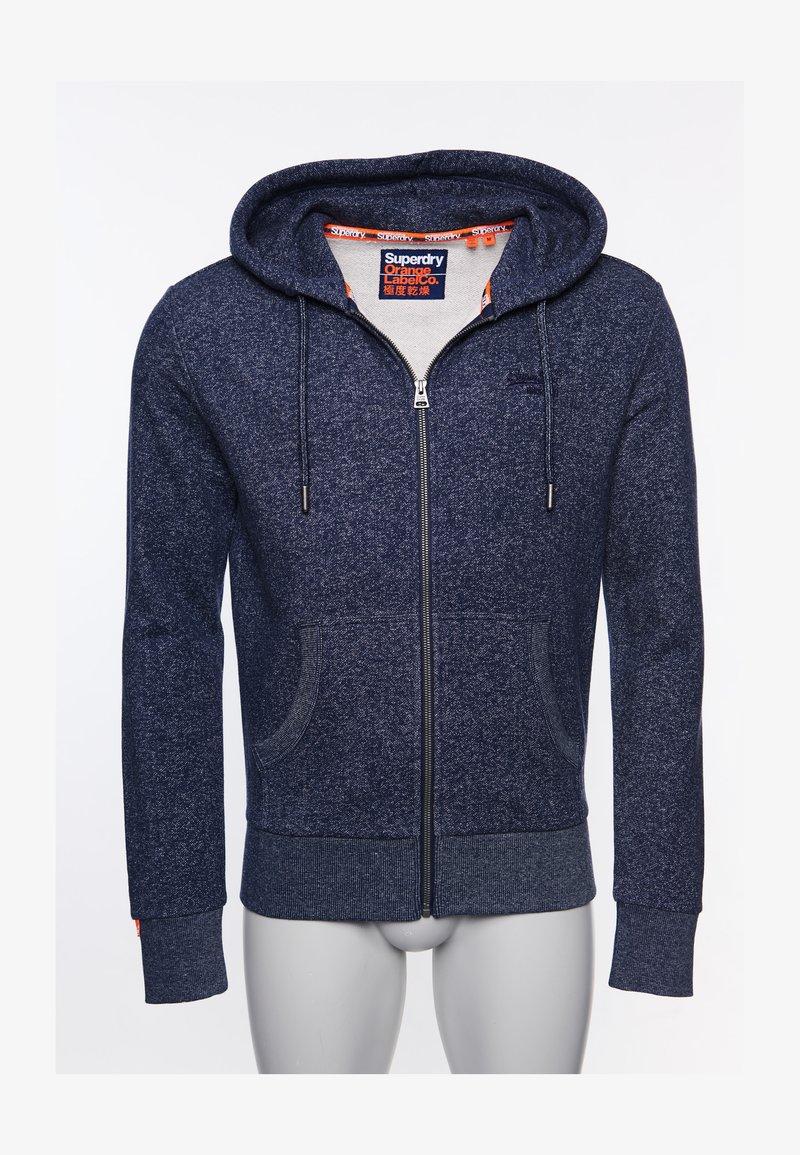 Superdry - CLASSIC  - Zip-up hoodie - atlantic navy birdseye