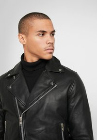 Samsøe Samsøe - SPIKE JACKET  - Leather jacket - black - 5
