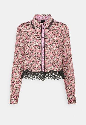 CASILDA CAMICIA - Button-down blouse - nero/rosa/bianco