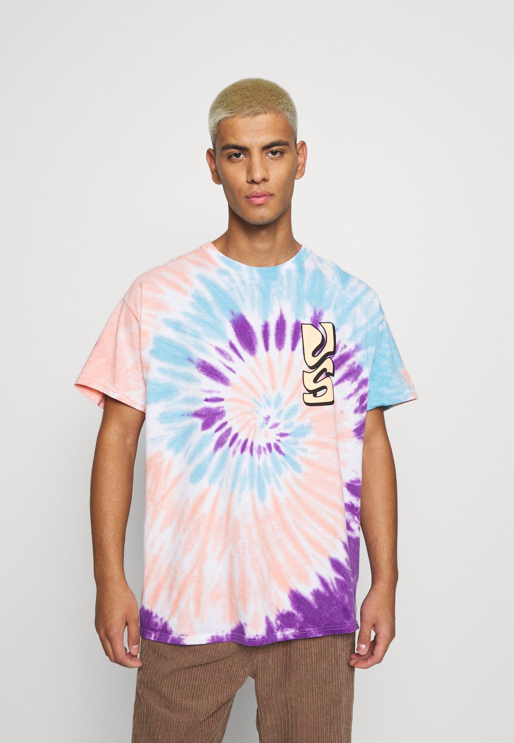 Homme SPIRAL TIE DYE WITH FAR OUT SUN GRAPHIC - T-shirt imprimé