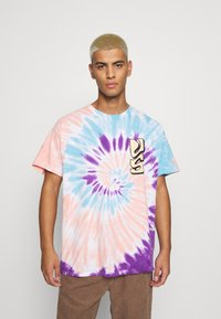 Vintage Supply - SPIRAL TIE DYE WITH FAR OUT SUN GRAPHIC - Print T-shirt - multicoloured - 0