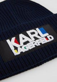 KARL LAGERFELD - KARL BAUHAUS BEANIE - Czapka - navy - 4