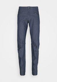 Salomon - WAYFARER ALPINE - Długie spodnie trekkingowe - mood indigo/white - 0