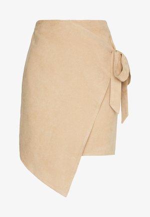 OVERLAP SKIRT - Pencil skirt - beige