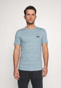 Superdry - VINTAGE CREW - Basic T-shirt - sky blue - 0