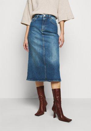 SKY - Denim skirt - blue