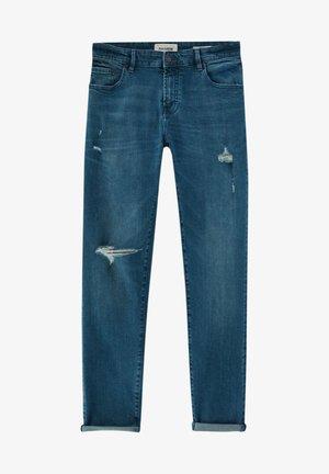 Skinny džíny - mottled royal blue