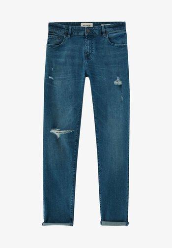Jeans Skinny Fit - mottled royal blue