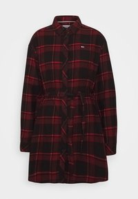 Tommy Jeans - DRESS - Blousejurk - deep crimson/black - 5