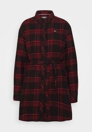 DRESS - Shirt dress - deep crimson/black