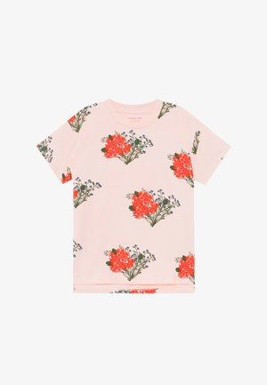 FLOWERS  - T-shirts print - light pink/red