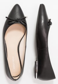 Anna Field - LEATHER BALLERINAS - Ballet pumps - black