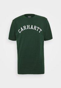 Carhartt WIP - UNIVERSITY  - Print T-shirt - bottle green/white - 4
