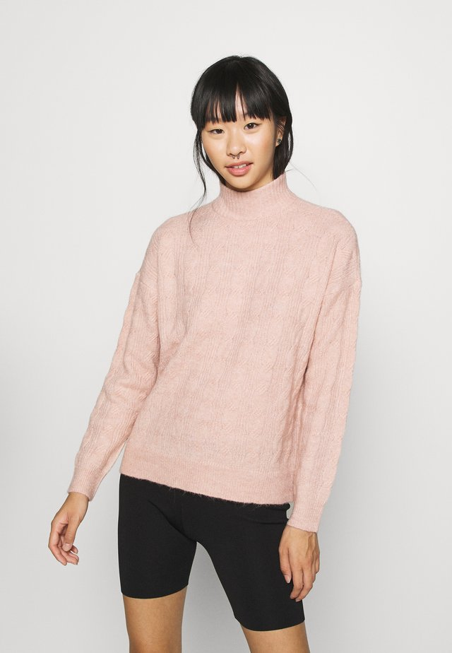 PCBECKY HIGH NECK CABLE  - Maglione - misty rose
