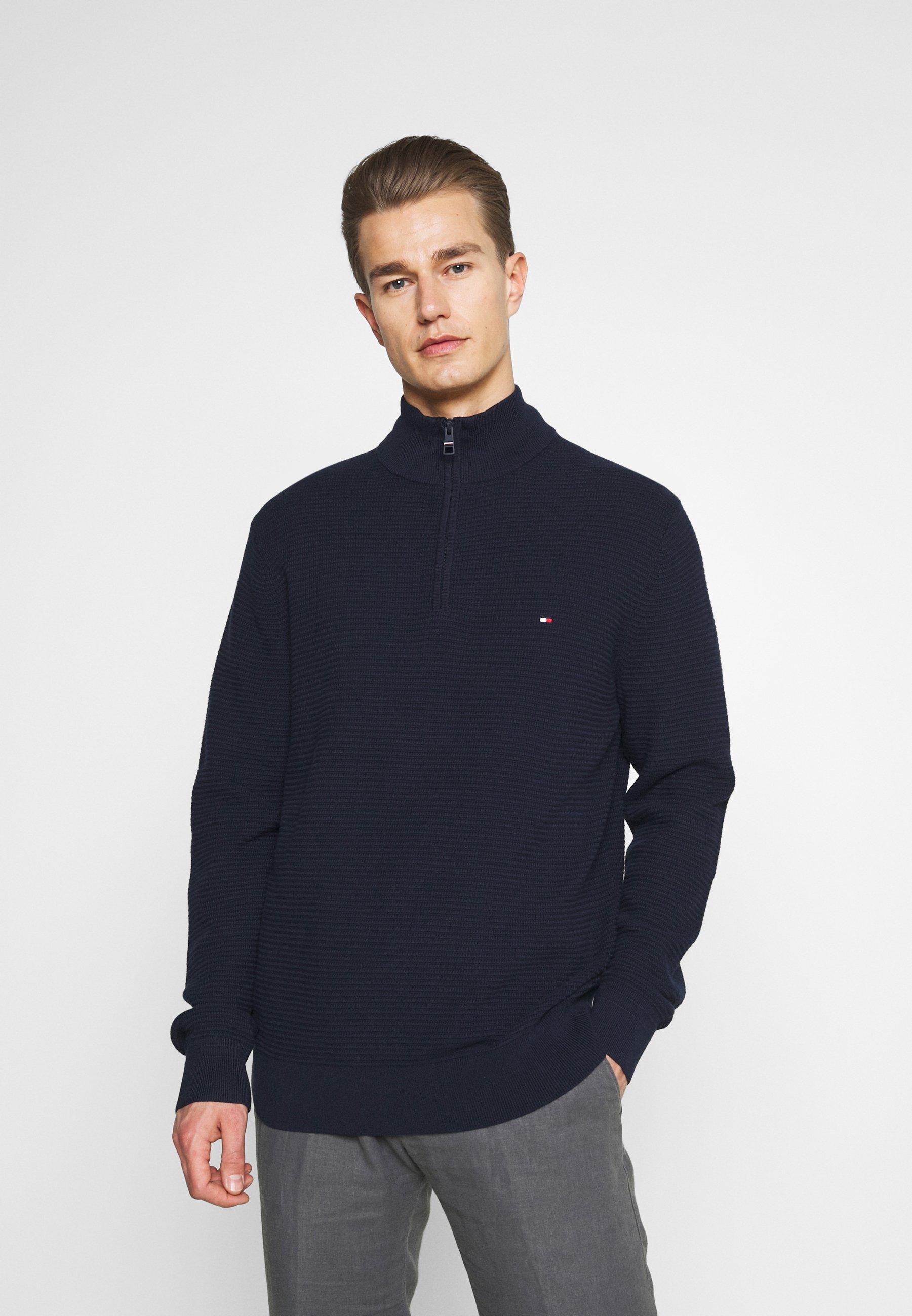 Homme STRUCTURE ZIP MOCK - Pullover