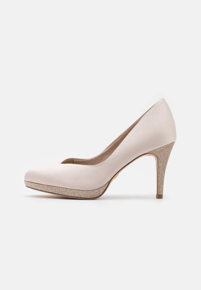 Platform heels - champagne