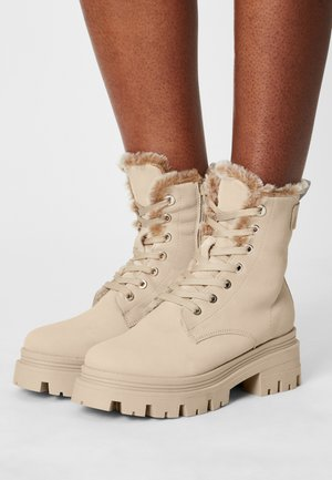 Lace-up ankle boots - antelope
