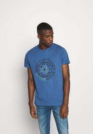 T-Shirt print - grey blue