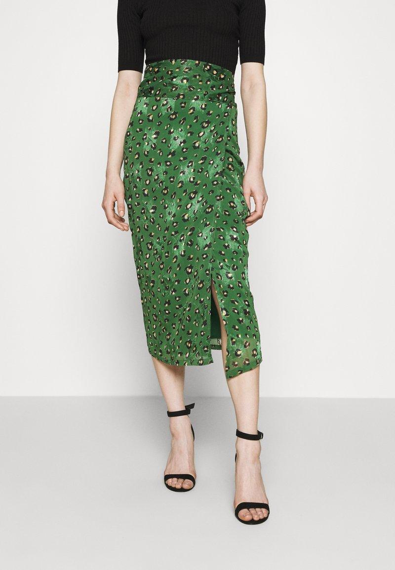 Never Fully Dressed - LEOPARD JASPRE SKIRT - Wrap skirt - green