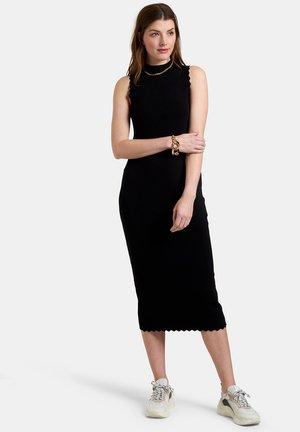 SCALLOP DRESS - Jerseyjurk - black