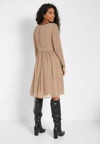 ORSAY - PUNKTEN - Jumper dress - creme beige - 1