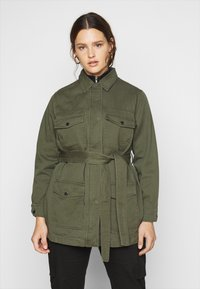 New Look Curves - LOTUS BELTED SHACKET - Summer jacket - khaki - 0