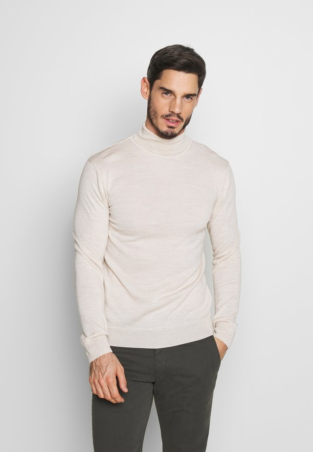 KONRAD ROLL NECK - Jersey de punto - light sand
