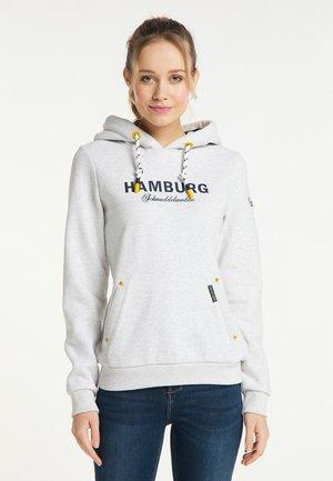 HAMBURG - Hoodie - wollweiss melange