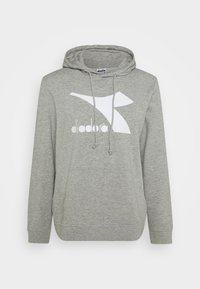 Diadora - HOODIE LOGO CHROMIA - Bluza z kapturem - light middle grey melange - 4