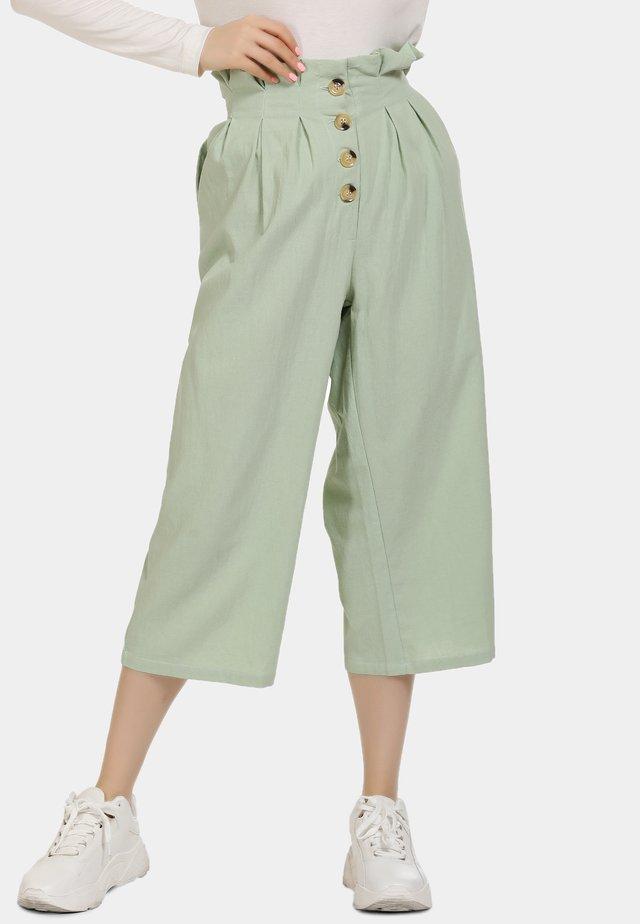 Spodnie materiałowe - minze