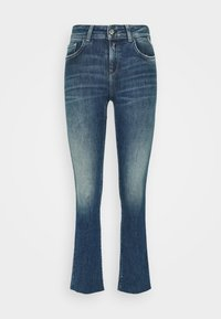 Replay - FAABY FLARE CROP PANTS - Slim fit jeans - medium blue - 4