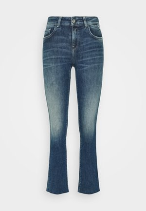 FAABY FLARE CROP PANTS - Slim fit jeans - medium blue