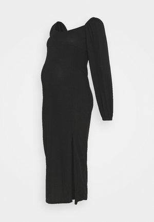 MILKMAID MIDAXI DRESS - Žerzejové šaty - black